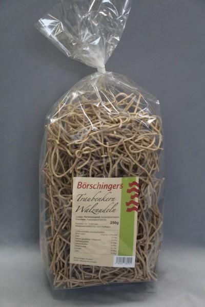 Walznudeln mit Traubenkernmehl